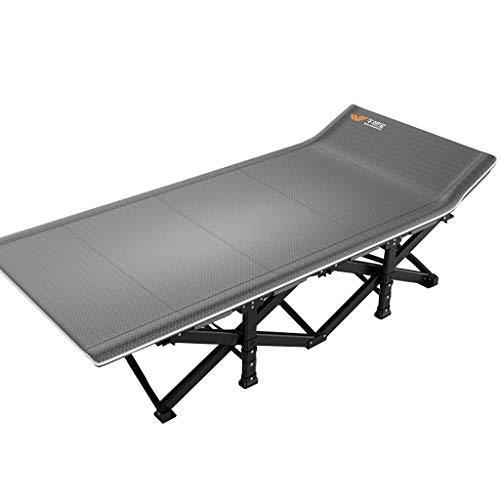 Lit pliant Lits de Camp et hamacs Camp Pliable Chaise Longue De Rechange Bureau Ménage Enfant Adulte Pause Déjeuner Mobilier de Camping (Color : Gray, Size : 190 * 75 * 36cm)