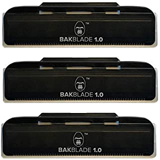 baKblade 1.0 Back Hair and Body Shaver Refill Replacement Cartridges. 4 Inch Extra-Wide Wet or Dry Disposable Razor Blades...
