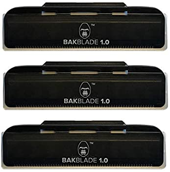 baKblade 1.0 Back Hair and Body Shaver Refill Replacement Cartridges 4 Inch Extra-Wide Wet or Dry Disposable Razor Blades  3 Razors Included
