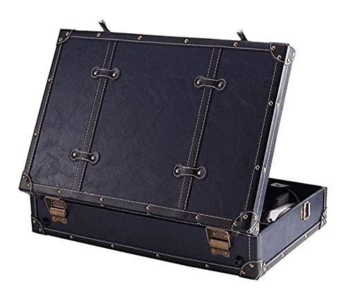 Bolsa de cordillero multifuncional Peluquero Profesional Peluquero Cuero Scissor Scissor Clipper Caja de herramientas Caja de herramientas Retro Gabinete de almacenamiento portátil Bolso de salón port
