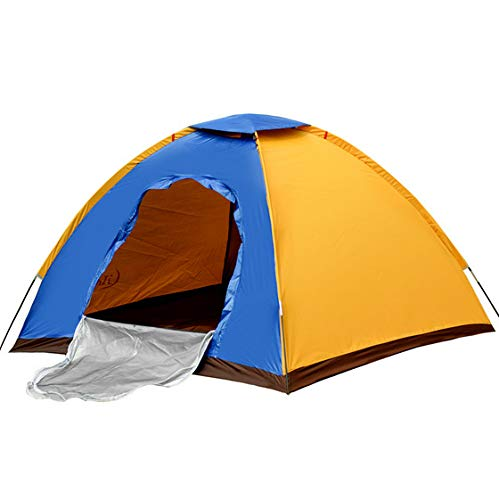 Jukkre Polyester Pongee Portable Waterproof Tent for 6 Person with Bag (Multicolour, Large)