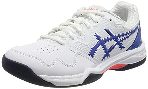 ASICS Gel-Dedicate 7 Indoor, Zapatillas de Tenis Mujer, White Lapis Lazuli Blue, 42 EU