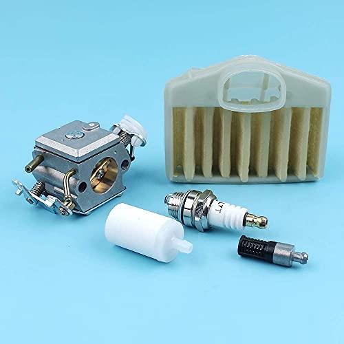 Carburador Filtro de aceite y combustible de aire L7T Bujía compatible con motosierra Husqvarna 365372371362 372XP