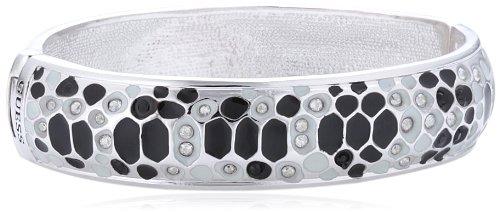 Guess Damen Armband Glamazon Emaille Edelstahl rhodiniert schwarzes und weiß UBB81330