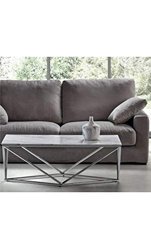 CAMINO A CASA - Table Basse Moderne 120 cm marbre Collision