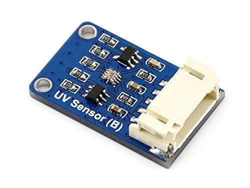 Waveshare UV Sensor (B) Ultraviolet Sensor Module DC3.3-5V UV and Ambient Light Intensity Detection Directly Output UV Index Value via I2C Interface