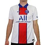 NIKE Camiseta de visitante para Hombre, diseño del Paris Saint-Germain BRT Stad, Hombre, CD4241, White/Old Royal, Medium