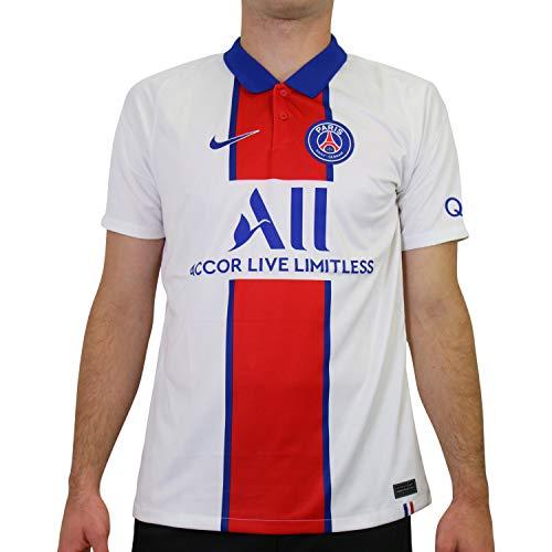 NIKE Camiseta de visitante para Hombre, diseño del Paris Saint-Germain BRT Stad, Hombre, CD4241, White/Old Royal, Large