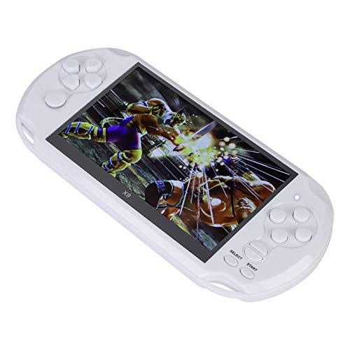 Agatige Consola de Juegos Portátil, Mini Reproductor de Juegos Portátil de 5.1 Pulgadas con Cámara y Funciones DV para niños (Blanco)