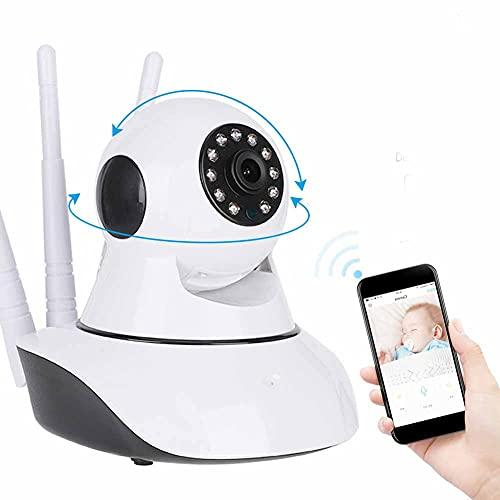 Telecamera WIFI automatica con LED automatico 1080P, telecamera IP a 2 vie, per protezione(British regulatory, 1080P)