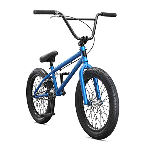 Mongoose Legion L40 Freestyle BMX Bike for Beginner-Level to Advanced Riders, Steel Frame, 20-Inch Wheels, Blue