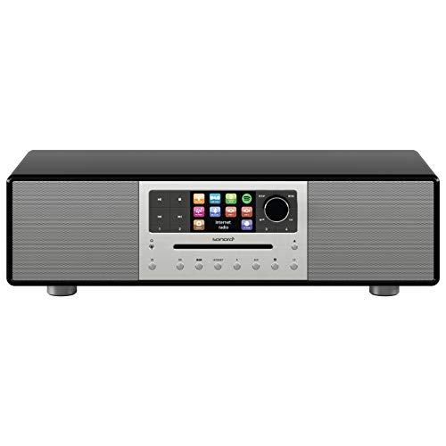 sonoro MEISTERSTÜCK Kompaktanlage 2017 (FM/DAB+, CD, AUX, Bluetooth, Spotify) Schwarz
