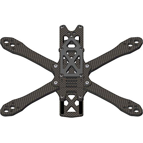 YIJIABINGRU 5/6/7inch Frame kit RC Drone FPV Racing Quadcopter Freestyle Stretch X UAV Support 2205 2306 5045 F3F4 Drone Parts (Color : 6MM 265MM Frame kit)