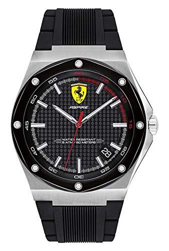 Scuderia Ferrari Orologio Analogico Quarzo Uomo con Cinturino in Silicone 830529
