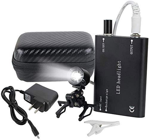 CARESHINE Protable LED Head Light Lamp for Dental Surgical Medical Binocular Loupe Black
