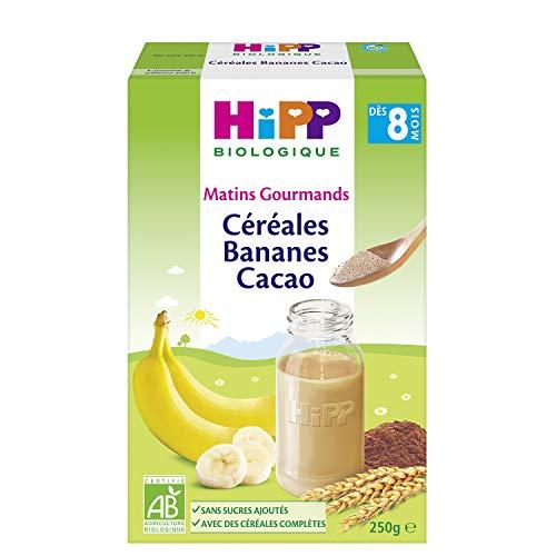 Hipp Biologique Céréales Bananes Cacao Dès 8 Mois 6 Boîtes de 250 g