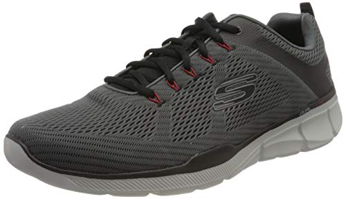 Skechers Equalizer 3.0-52990, Men's Low Top Trainers, Grey (Charcoal Black Ccbk), 10 UK (45 EU)