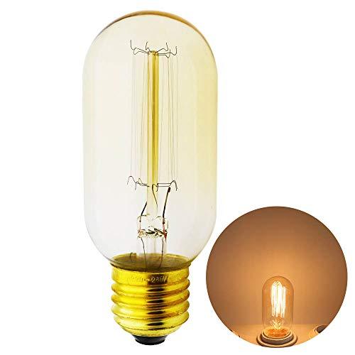 Xindaxin®,Edison Vintage Glühlampen, Warmweiß E27 Retro Glühbirne Antike Beleuchtung,Ideal für Nostalgie und Antike Beleuchtung - 1 Stück