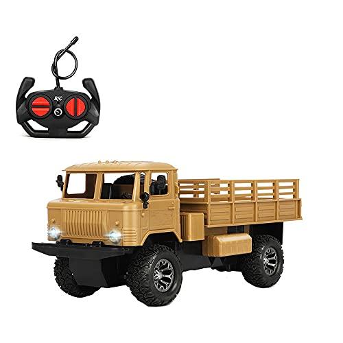 NAMFZX 1:16 RC Military Picard Off-Road Car 4WD Todo Terreno Vehículo de Escalada 2.4GHz Carga Control Remoto Juguete Arranque Coche Storned Boy Regalo Favorito de cumpleaños de Navidad