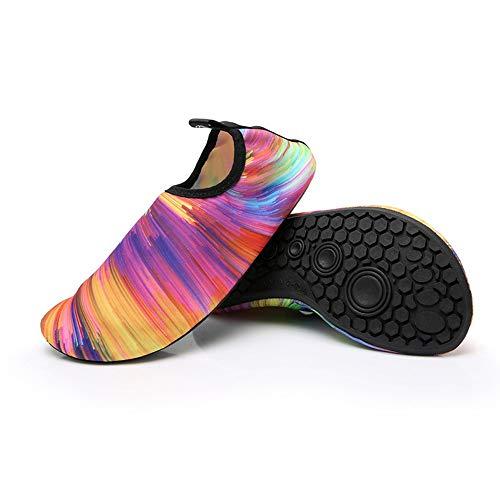 TYXL Zapatos de Playa Zapatillas de natación a Color, Snorkeling, Baile Corriente Arriba, Yoga, Hombres y Mujeres, surfeando en la Playa, Zapatos acuáticos, Piel, Secado rápido, Transpirable, Suave