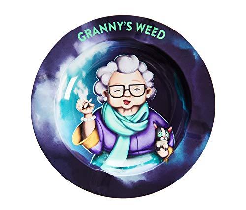 Granny's Premium Aschenbecher | 1 Stück | Für draussen geeignet | Ascher aus Metall | Ideales Zubehör für Raucher