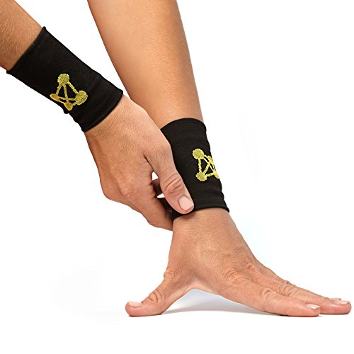 CopperJoint Compression Wrist Support – Copper-Infused Bands Support Improved Circulation, Recovery, Help Relieve Stiff & Sore Muscles - 1 Pair (Large)