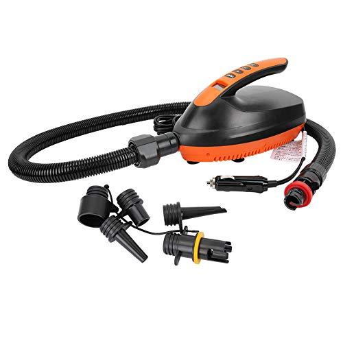 AYNEFY Elektrische Luftpumpe, Hochdruck, tragbar, 12 V, digitale Luftpumpe für SUP & Paddle Board