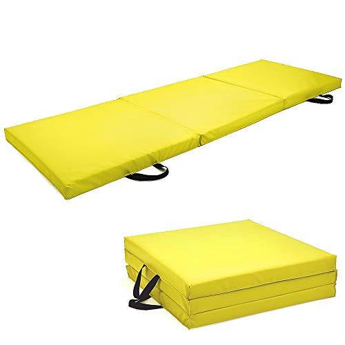 Soomloom 三段 折りたたみ式 スポーツ 体操トレーニング マット 180X60CM 厚5.5CM (レッド, 180*60CM)