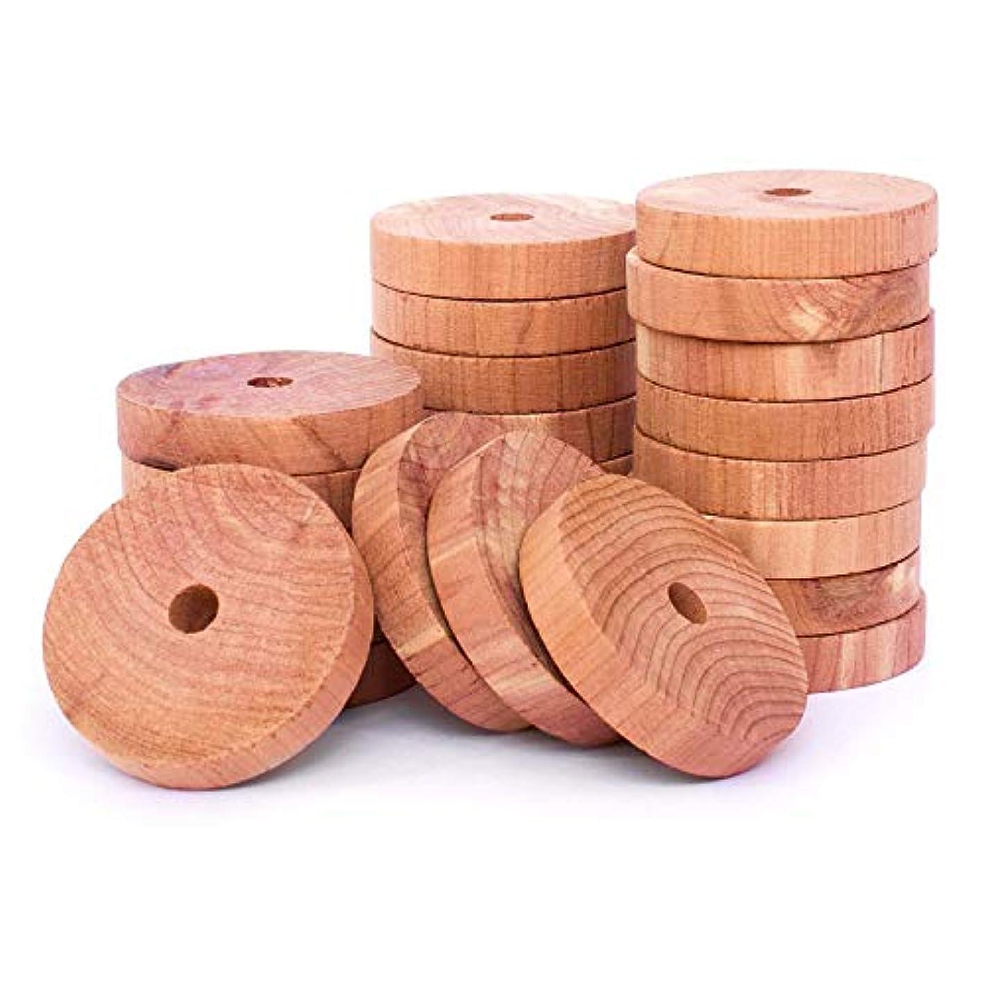 HomeDo Cedar Blocks for Clothes Storage, Cedar Closet Moth Protection with Cedar Fragrance, Cedar Rings Hangers for Closets and Drawers (Cedar Round Ring, 30)