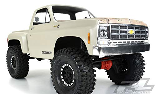 Pro-line Racing Clear Body, 1978 Chevy K-10 with 12.3 Wheelbase: 1/10 Rock Crawlers, PRO352200