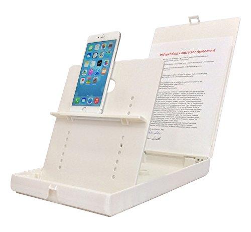 ScanJig Pro Plus - Documento di scansione Supporto per tablet e cellulari - Include rilegati staffa di supporto - regolabile per un allineamento preciso e di testo senza errori di riconoscimento - portatile OCR Supporto per la ipovedenti e non vedenti