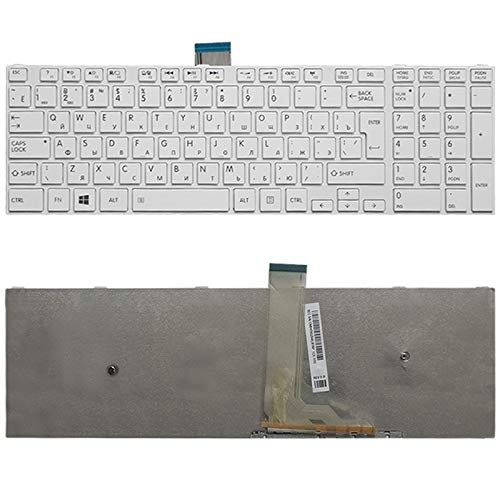 para los teclados de Repuesto Teclado RU Versión for Toshiba Satellite C50-A C50-A506 C50D-A C55T-A C55-A C55D-A (Color : White)