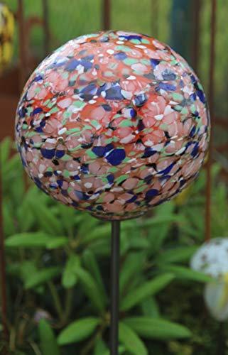 Bornhöft Rosenkugel Gartenstecker Glaskugel Gartendeko Gartendekoration Handarbeit Rankstab Dekoration Beetstecker Topfstecker 13-1