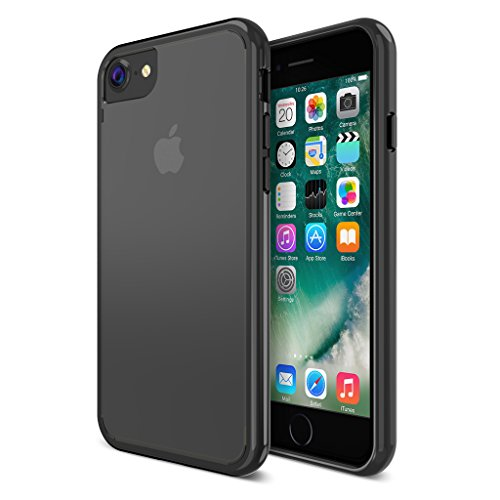 Maxboost iPhone 8 7 Case, Clear Cushion Case for Apple iPhone 8, iPhone 7 2017 2016 Scratch Resistant/Shock-Absorbing/TPU Bumper/Hybrid Hard Back Panel/Compatible w/Most Protector -Black/Clear