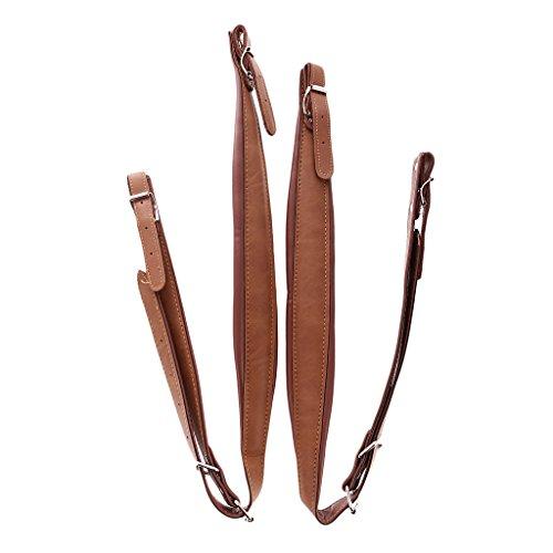 perfk 2 Stück PU-Leder Akkordeon-Riemen, Verstellbar, Akkordeon-Schulterriemen Schultergurte für 16-120 Bass Akkordeon