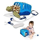 My Little Vet Maletín Veterinario - Set Bebé Tortuga Marina de Deluxebase. Kit Veterinario de Juguete para niños. Un Lindo Kit con diseño de Animales Ideal para Juegos de simulación.