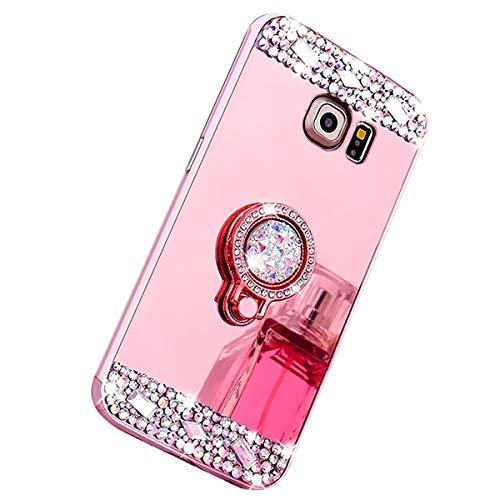 Felfy Galaxy S6 Cover, Glitter Effetto Specchio Silicone Morbido Case