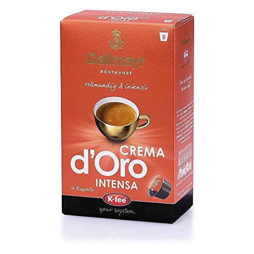 Dallmayr CREMA d'Oro INTENSA Kaffeekapseln, 96 Stück, kompatibel mit Tchibo Cafissimo (R)*, 6er pack (6 x 16 Stück)