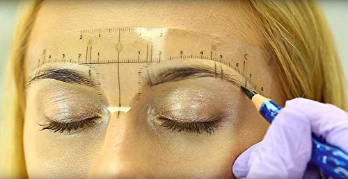 Permanent Make-up Microblading Augenbrauen Lineal 5 Stück