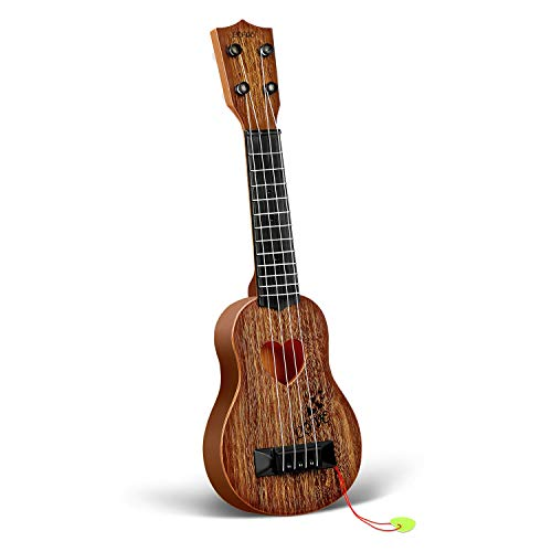 hony Kids Toy Classical Ukulele Guitar Musical Instrument (Brown)