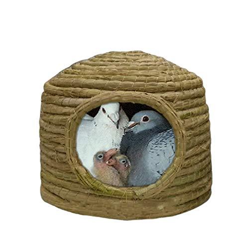 Nistkästen Handgewebe Fasernester, Vogelkäfige für Vögel, Tauben und Papageien, 21x18cm, 30x21cm, 35x25cm (Size : 21x18cm)