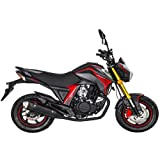 Lifan 150cc Gas Motorcycle Adult Motorcycle Moped Scooter KP Mini 150 Street Motorcycle Bike Fully Assembled (Black/Red)