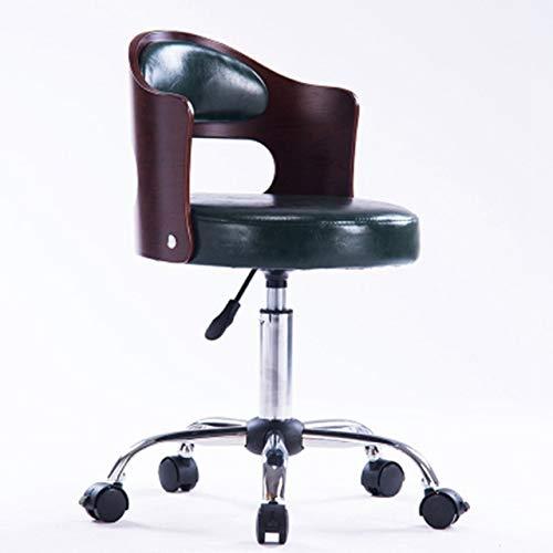 Swivel Stool Solid Wood Office Chair High Stool Swivel Bar Stool Home Backrest Stool Modern Student Computer Chair
