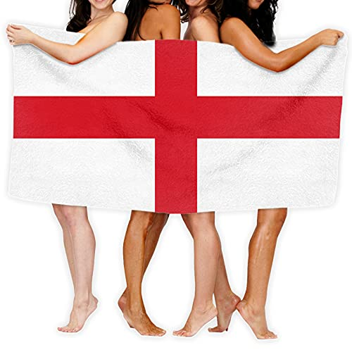 England (St George) Flag Gift Her Him Microfiber Beach Towel Sand Resistant Travel Towel Pool Towel 80 X 130cm