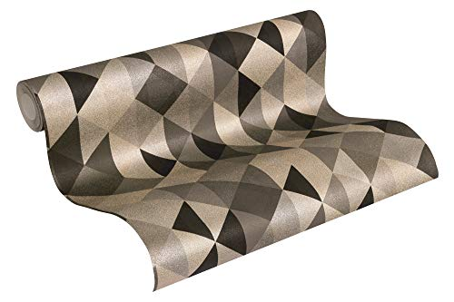 A.S. Création Vliestapete Scandinavian 2 Tapete geometrisch grafisch 10,05 m x 0,53 m schwarz metallic braun Made in Germany 367864 36786-4
