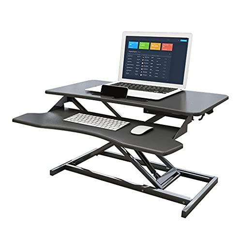 Elevador de Escritorio de 31,4 Pulgadas de Altura Ajustable para Sentarse, convertidor de pie, Monitor Dual y estación de Trabajo para computadora portátil con Bandeja para Teclado