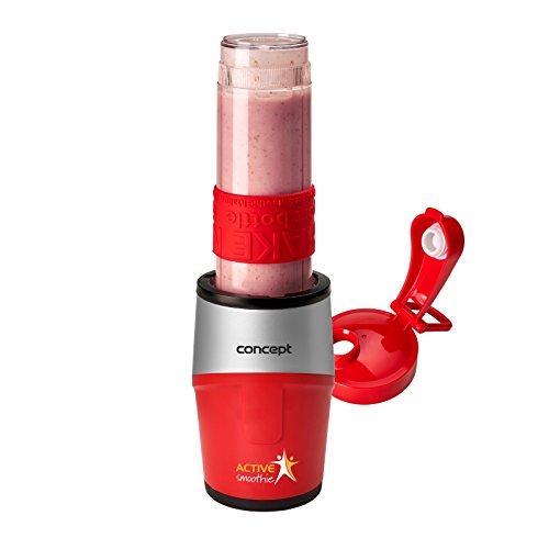 CONCEPT électroménager SM3382 smoothie maker « ACTIVE SMOOTHIE », un récipient, 500 W, rouge + argent, sans BPA