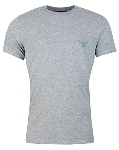 Emporio Armani Rear All Over Logo T-Shirt Large Grey