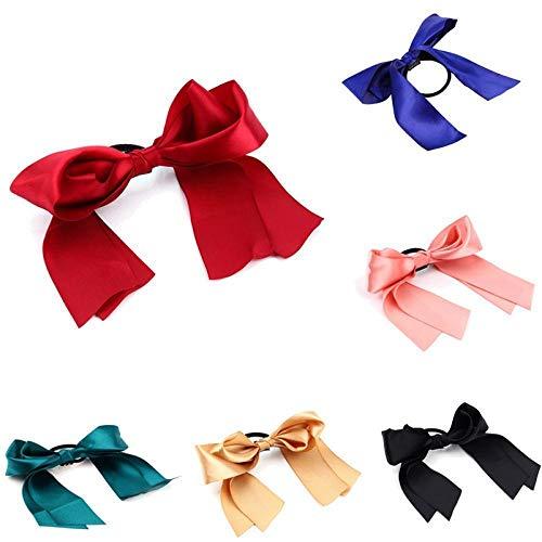 Trixes Lot de 6 Attaches à Cheveux Ruban Elastique Accessoire Cheveux Fille Coloris Assortis