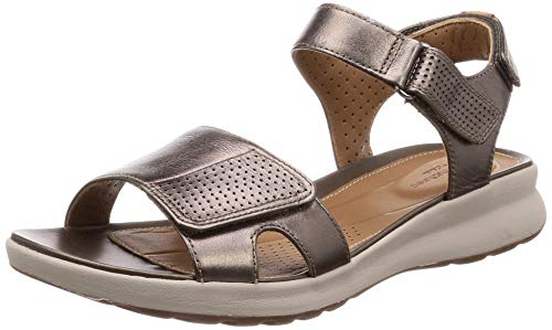 Clarks Un Adorn Calm Leather Sandals in Wide Fit Size 5½